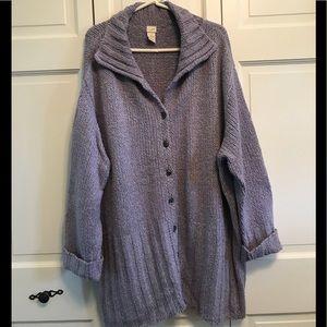 J.Jill Lilac Colored Oversized Sweater